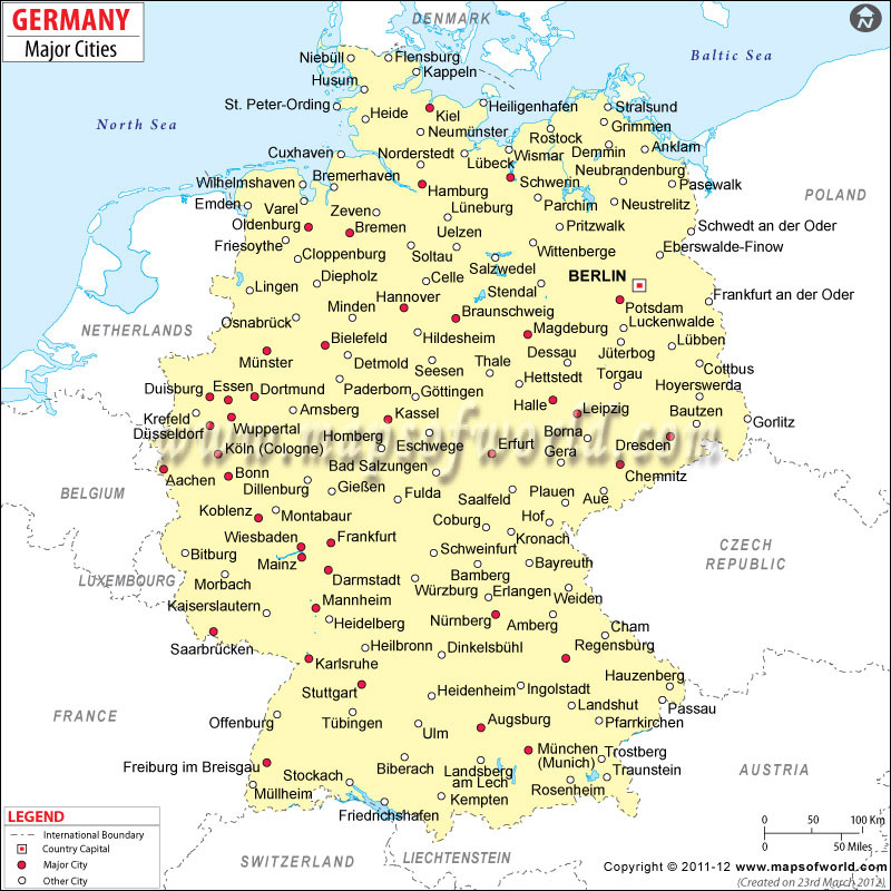 Germany Postal Code Map