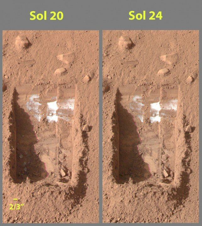 The Phoenix Lander Has Uncovered Frozen Water Under Surface Of Mars Actually Quite Close To